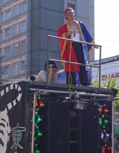 第22回YOSAKOIソーラン祭り(2013年)平岸会場8(GOGO'S&クワザワグループ、東京農業大学YOSAKOIソーラン同好会「農天揆」、四神∞朱雀、灼熱嵐舞)