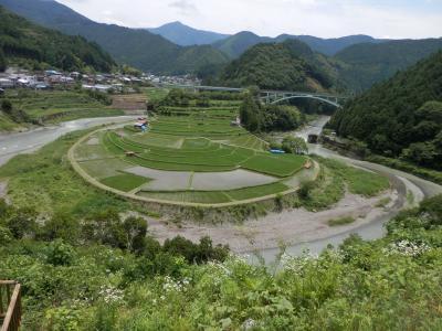 和歌山有田川町の棚田、馬蹄型