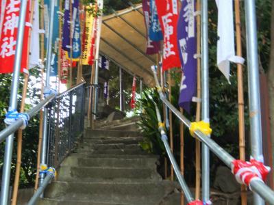 2013 十条のお冨士さん山開き 準備完了 世界遺産登録おめでとう
