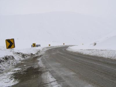 冬のニュージーランド道路事情