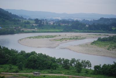 越後川口SAから見られる風景