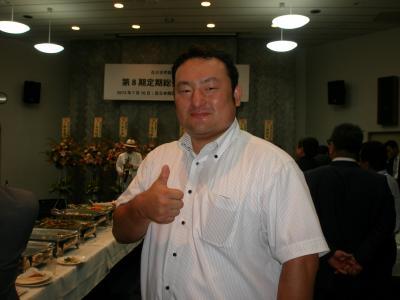 在日世界韓人商工人連合会 第8回定期総会 若手の会会長と会う