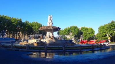 フランスの旅(50)・・・エクサン・プロヴァンス ホテル周辺の早朝散歩