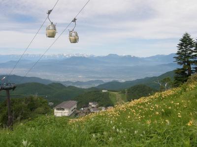 湯田中温泉フリープラン4日間の旅・・・⑤志賀高原の東舘山高山植物園で高山植物を楽しむ