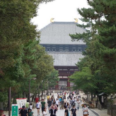 東大寺大仏殿。ここに来ると中学の修学旅行を思い出します。懐かしき青春時代。