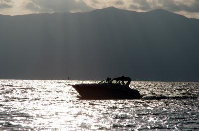 2013夏の琵琶湖・・その2(水辺の夕焼け編)