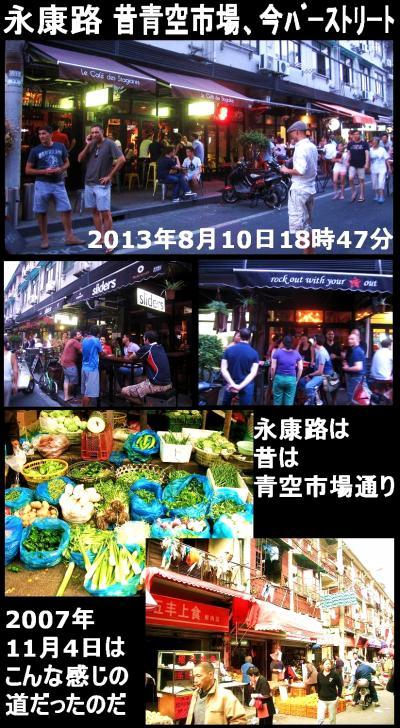永康路:昔は青空市場通り、今は外人バーストリート