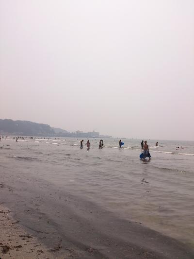 由比ヶ浜海水浴♪