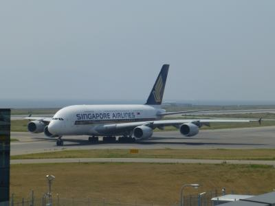関西空港 シンガポール航空 A380 見学