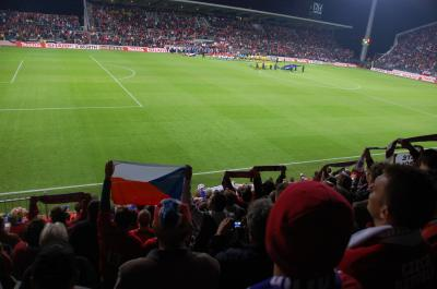 9月のオロモウツ - チェコ代表戦観戦