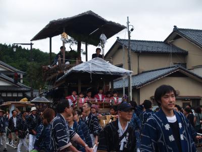 村上大祭-おしゃぎり巡行(9番安良町)