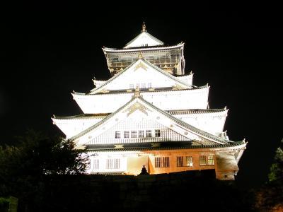 車で行く西日本の旅 大阪府 夜の大阪城