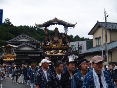 村上大祭-おしゃぎり巡行(13番長井町)