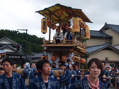 村上大祭-おしゃぎり巡行(18番加賀町)