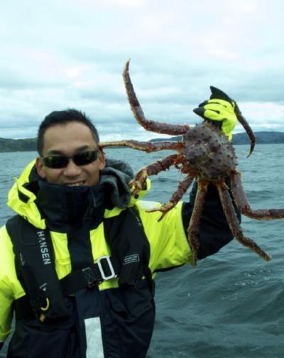 ノルウエーの北の果てでタラバガニ漁をする!