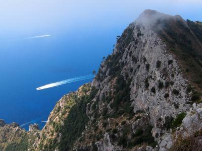 南イタリア 2013夏 アナカプリ地区 カプリ島で一番高い場所ソラーロ山頂 & アナカプリ街歩き