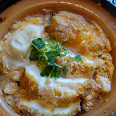 箱根のランチは強羅で豆腐かつ煮定食です。行列のできるお店です。