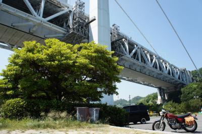 2013夏の瀬戸内バイク旅(鷲羽山からの瀬戸大橋)