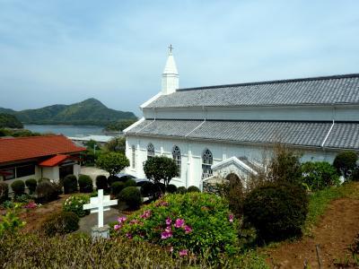 第3部五島列島(長崎)の小さく質素だが美しい教会群巡礼07高台からの眺めが美しい水ノ浦教会