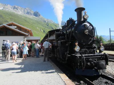 2013年オーストリア・スイスの旅 №10   ***フルカ山岳蒸気鉄道と峠越えバスで Brienz へ***