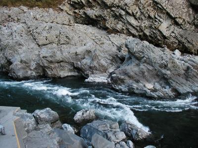 「誘遊四国」(2)大歩危小歩危遊覧・土佐の高知で播磨屋橋見つけた。