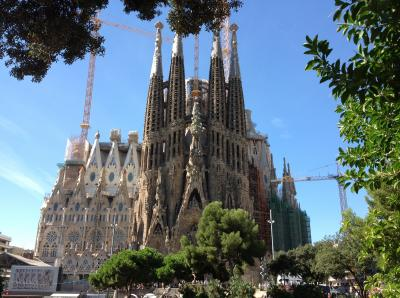 初バルセロナ!! 一生に一度は見てみたかったサグラダ・ファミリアに感動