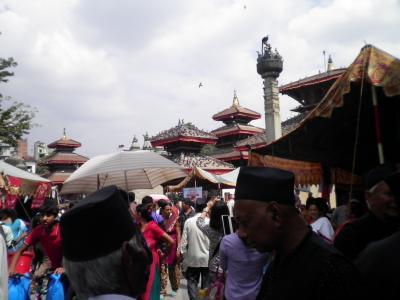 ネパール6: カトマンズ 「ダルバール広場」 の 「ネワール観光祭り」
