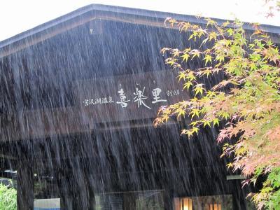 さめざめとした雨の日の宮沢湖温泉「喜楽里」別邸~晴れの日の先週末のおまけ付き