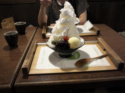 10月に雪山(かき氷スイーツ)を食べに黒川温泉へ