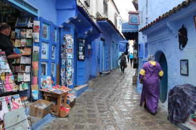 魅惑のモロッコ・個人手配で行ってみる♪NO.3 青い町シャウエンの迷宮~Dar Meziana