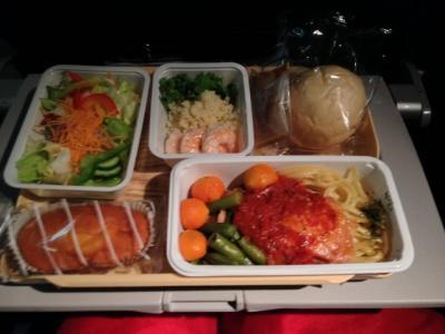 デルタ航空(成田⇔JFK)機内食&空港送迎など