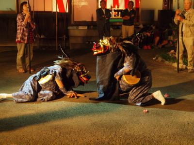 加須市の集落 今鉾に伝わる 加須市無形民俗文化財「今鉾の獅子舞」 舞うー4