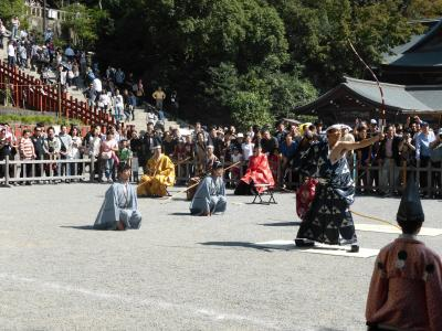 鎌倉鶴岡八幡宮での古式弓術奉納演武見学
