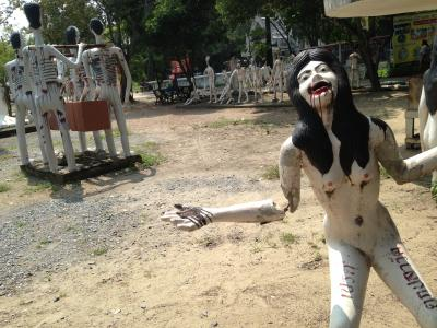 [Note for ur View] Land of Hell in Wat Phai Rong Wua @Supunburi