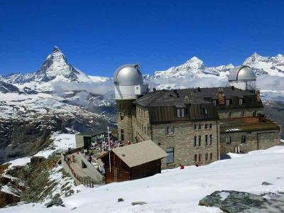 スイスハイキング2013・動画(ゴルナグラート展望台 360度のパノラマ)