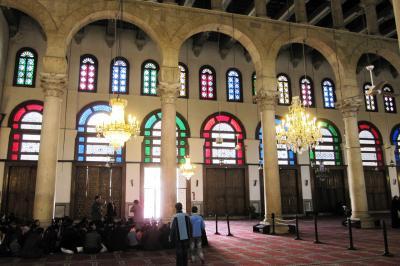 2011冬、シリア投・中東旅行記(22)ダマスカス、ウマイヤド・モスク、ステンドグラス