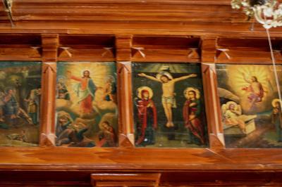 2011冬、シリア等・中東旅行記(31)マダバ、聖ジョージ教会、宗教画、マダバの市街