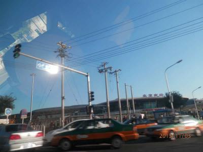 3日曜2日目8午後北京市内に入れば大渋滞の中を北京南駅まで