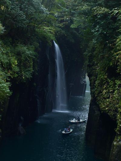 熊本の旅【3】~南阿蘇からちょっぴり紅葉している、モヤがかかって幻想的は高千穂峡へ~