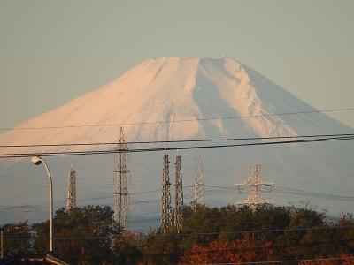 ふじみ野市より久しぶりに素晴らしい富士山が見られた