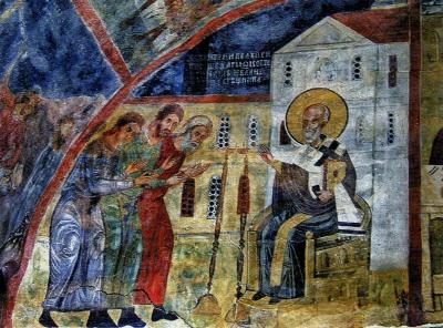 2011秋、ブルガリア等・東欧旅行記(46:補遺1)ボヤナ教会・フレスコ画(1/2)