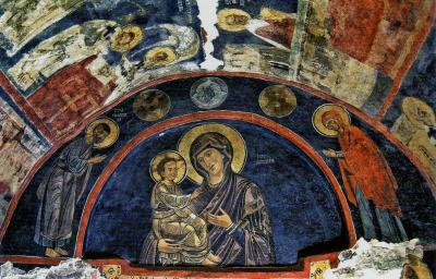 2011秋、ブルガリア等・東欧旅行記(47:補遺1)ボヤナ教会・フレスコ画(2/2)