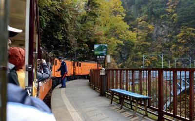 紅葉を求めて、富山県へ ②トロッコ電車で欅平へ