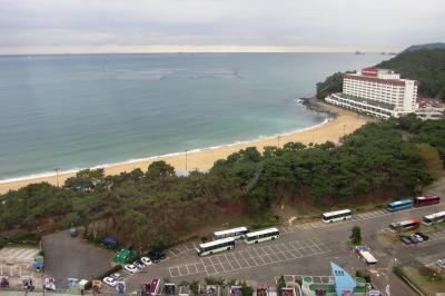 2011秋、韓国旅行記24(30)帰国、海雲台グランド・ホテルとその界隈、金海国際空港へ