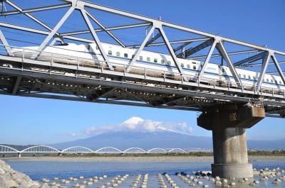 富士山を追って 2013.11.16 =2.富士川橋・朝霧高原・本栖湖・西湖=