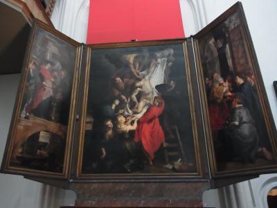 フランダースの犬とルーベンスの祭壇画(アントワープ)修正版
