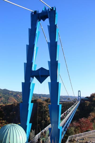 晩秋の茨城:笠間、袋田の滝、竜神大吊橋