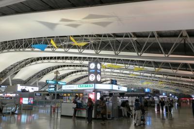 2013秋、イタリア旅行記2(1):9月24日:出発、名古屋駅前からバスで関西国際空港へ、エミレーツ航空機