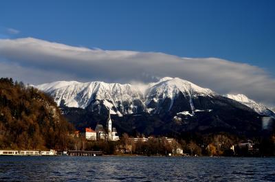 2013年冬、クロアチア・スロベニアの旅・・①ブレッド湖とポストイナ鍾乳洞見学