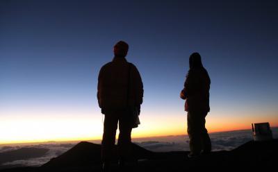 ハワイ3島周遊、ハワイ島(マウナケア山頂サンセット&星空ツアー)